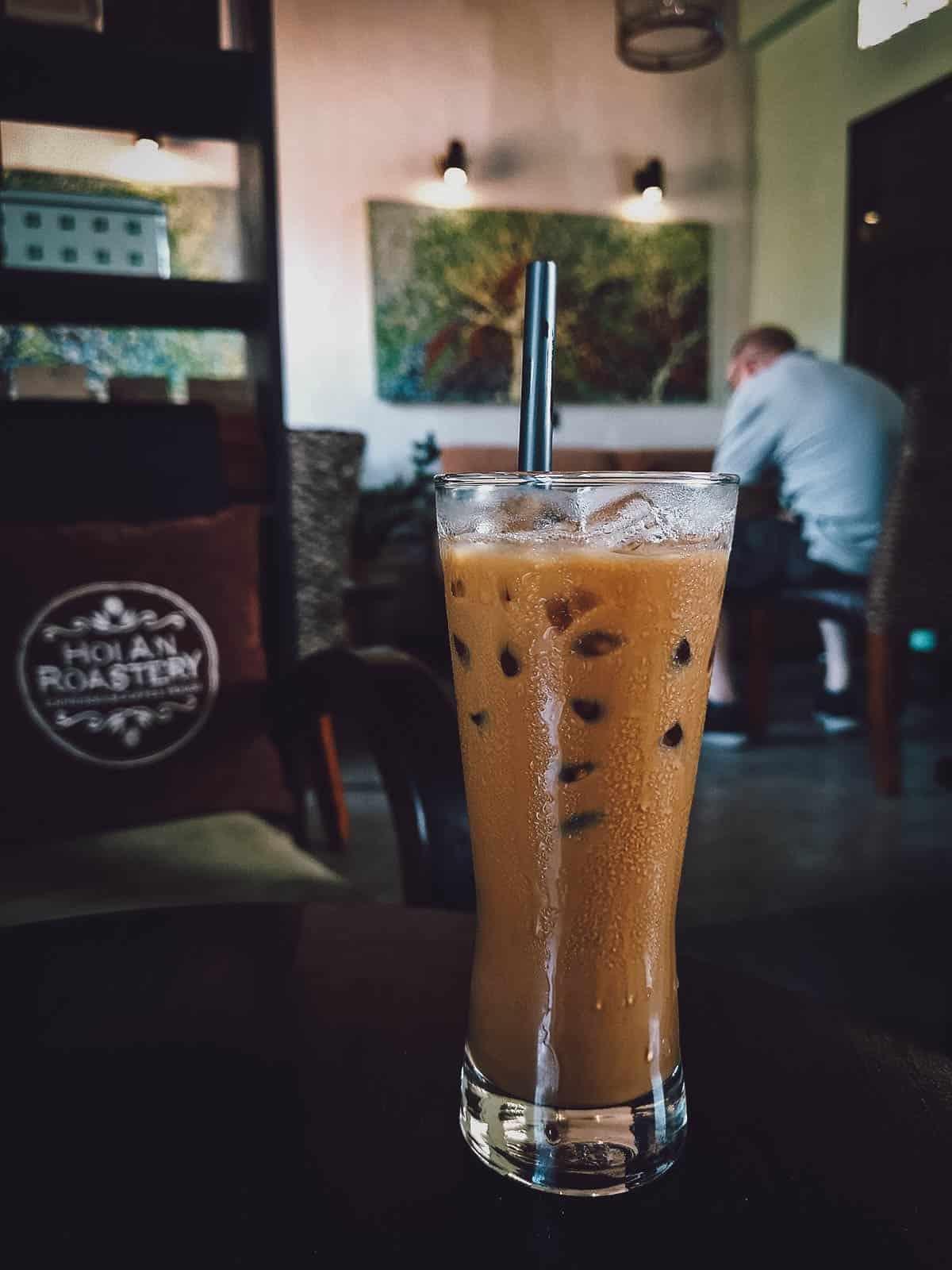 Iced coffee at Hoi An Roastery in Hoi An, Vietnam