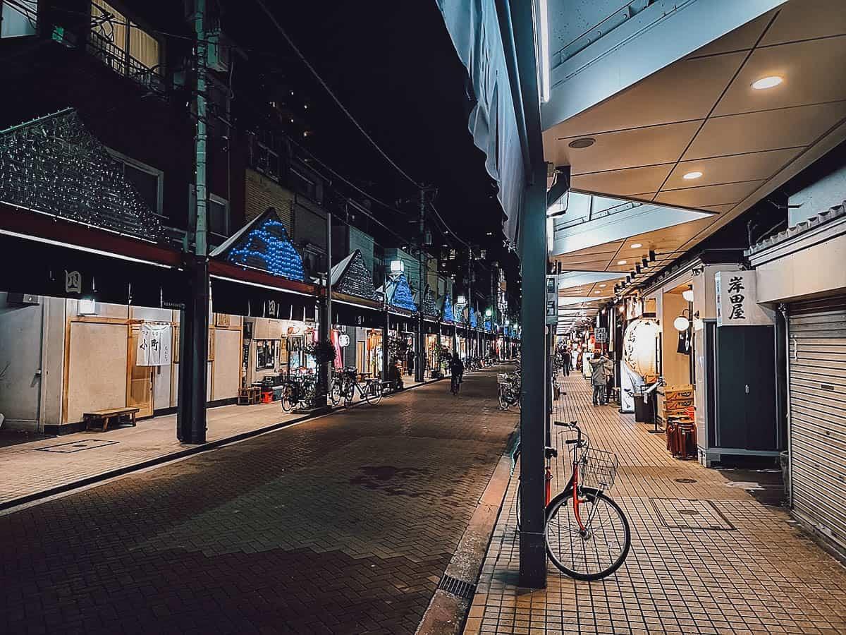 Tsukushima area in Tokyo, Japan
