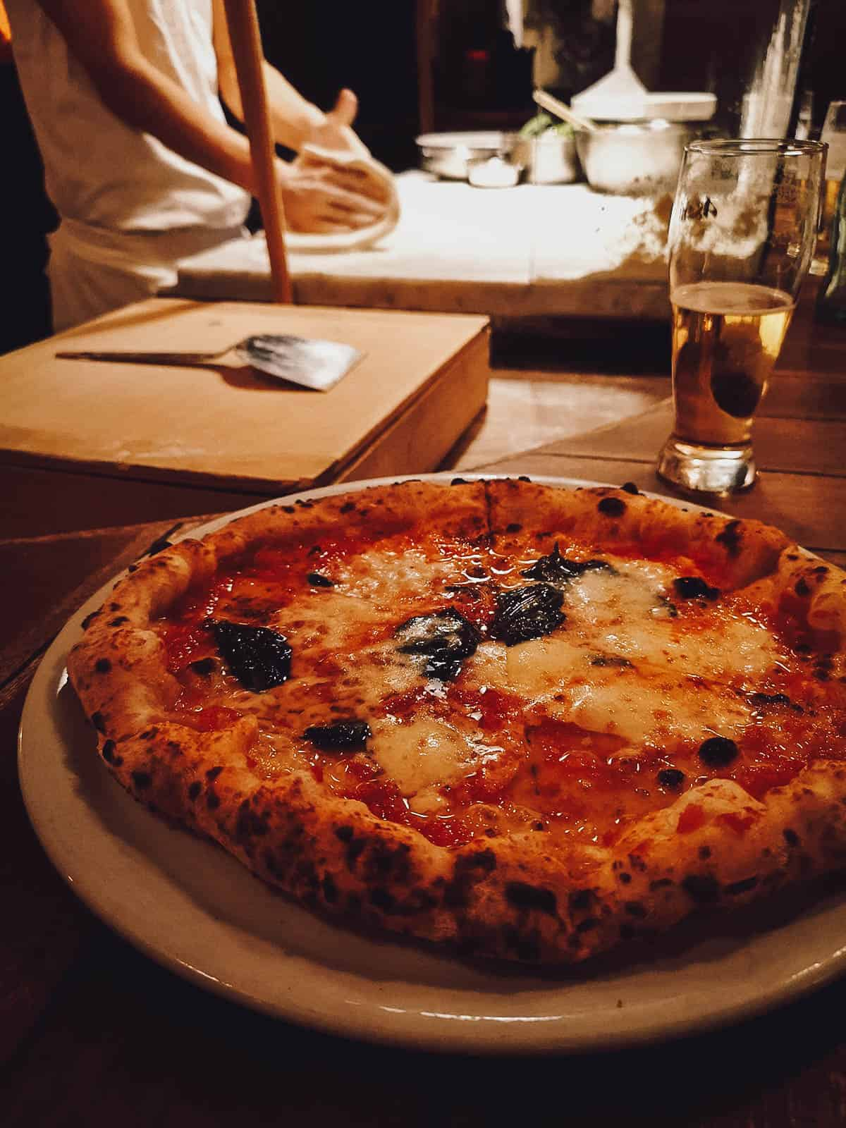 Margherita pizza at Savoy in Tokyo, Japan