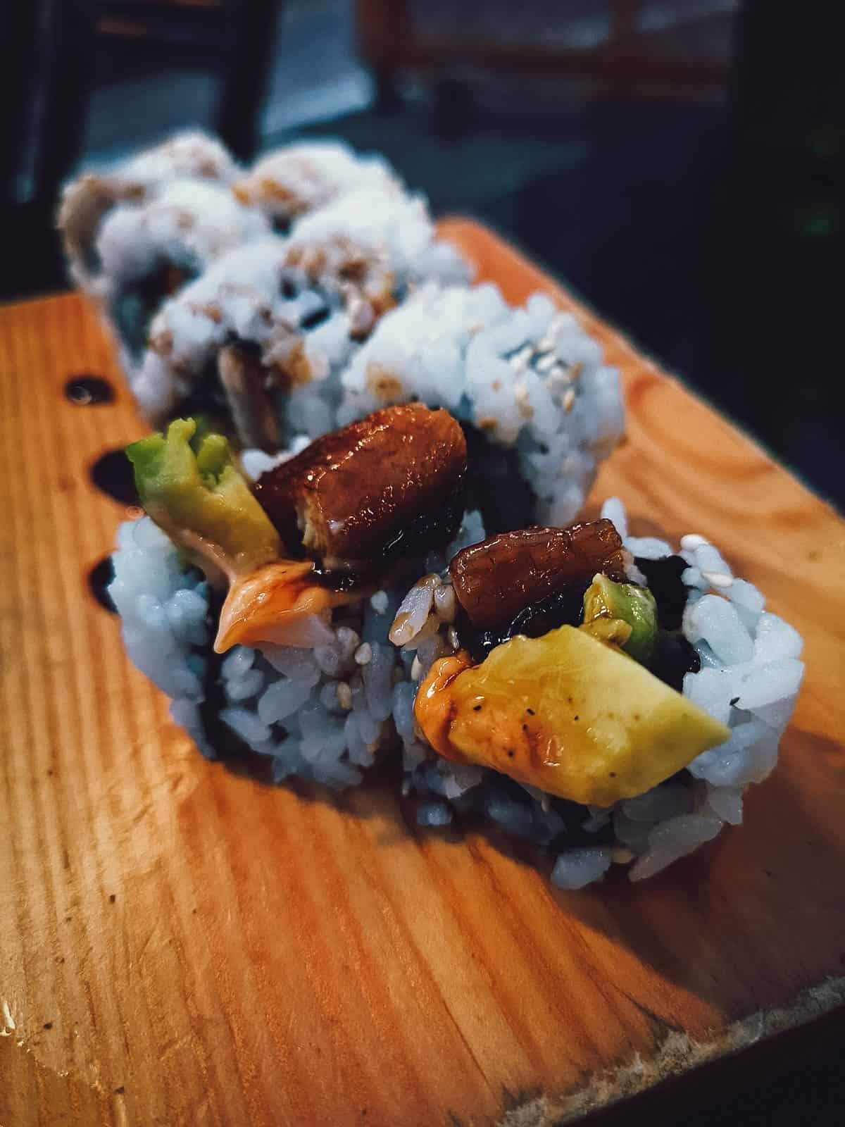 Sushi roll at Sushi Ko