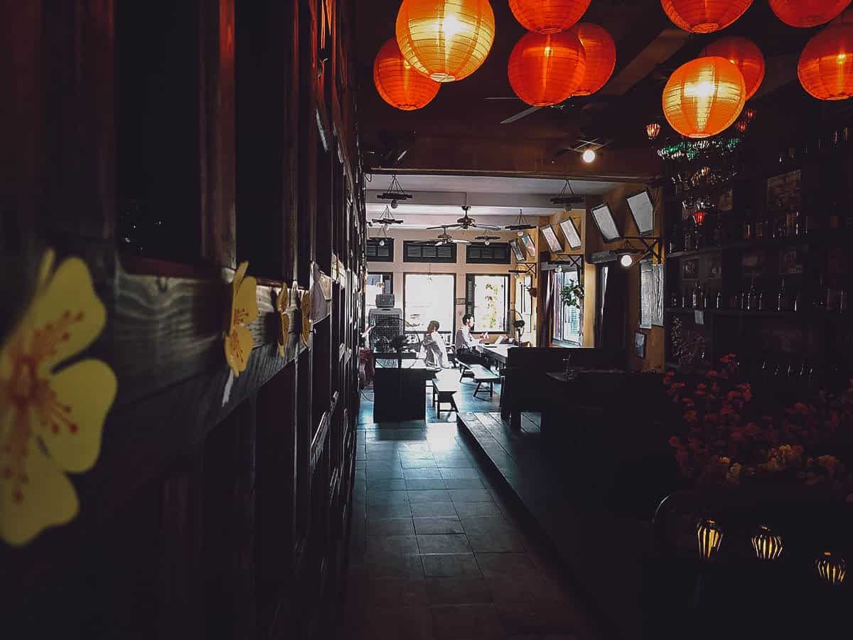 The Chef interior in Hoi An, Vietnam