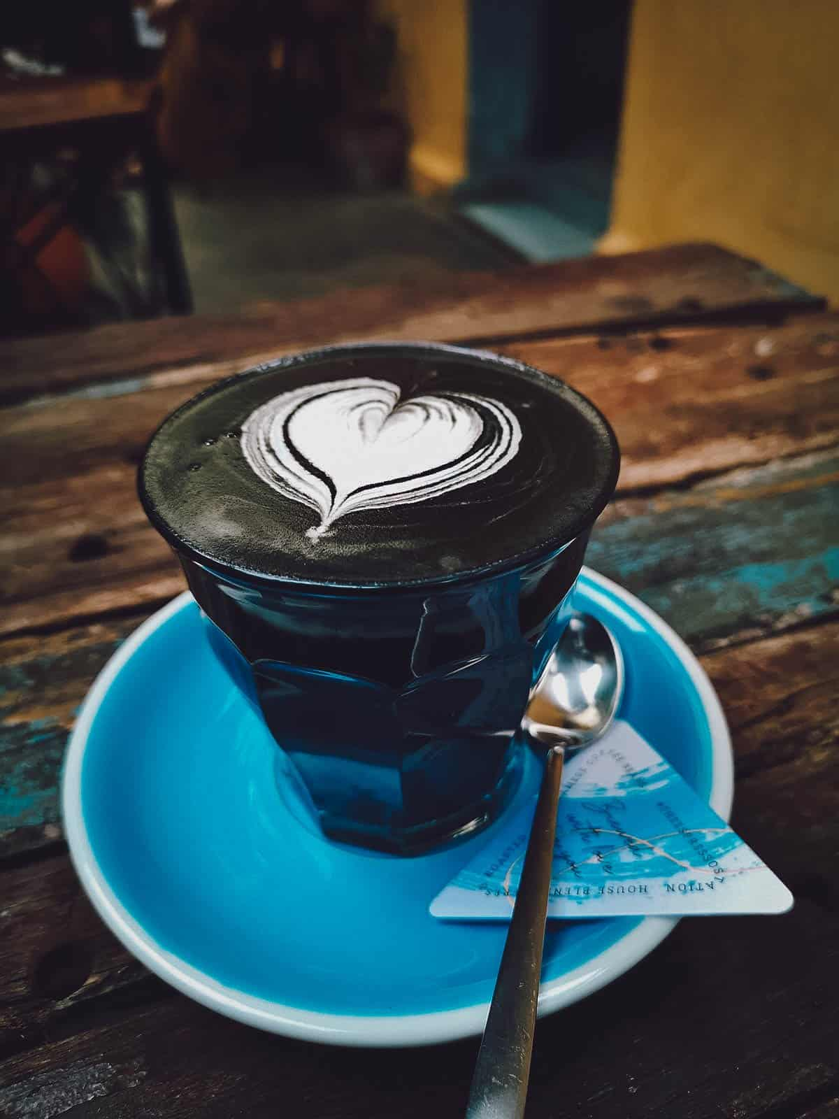 Dark Soul Latte at The Espresso Station in Hoi An, Vietnam