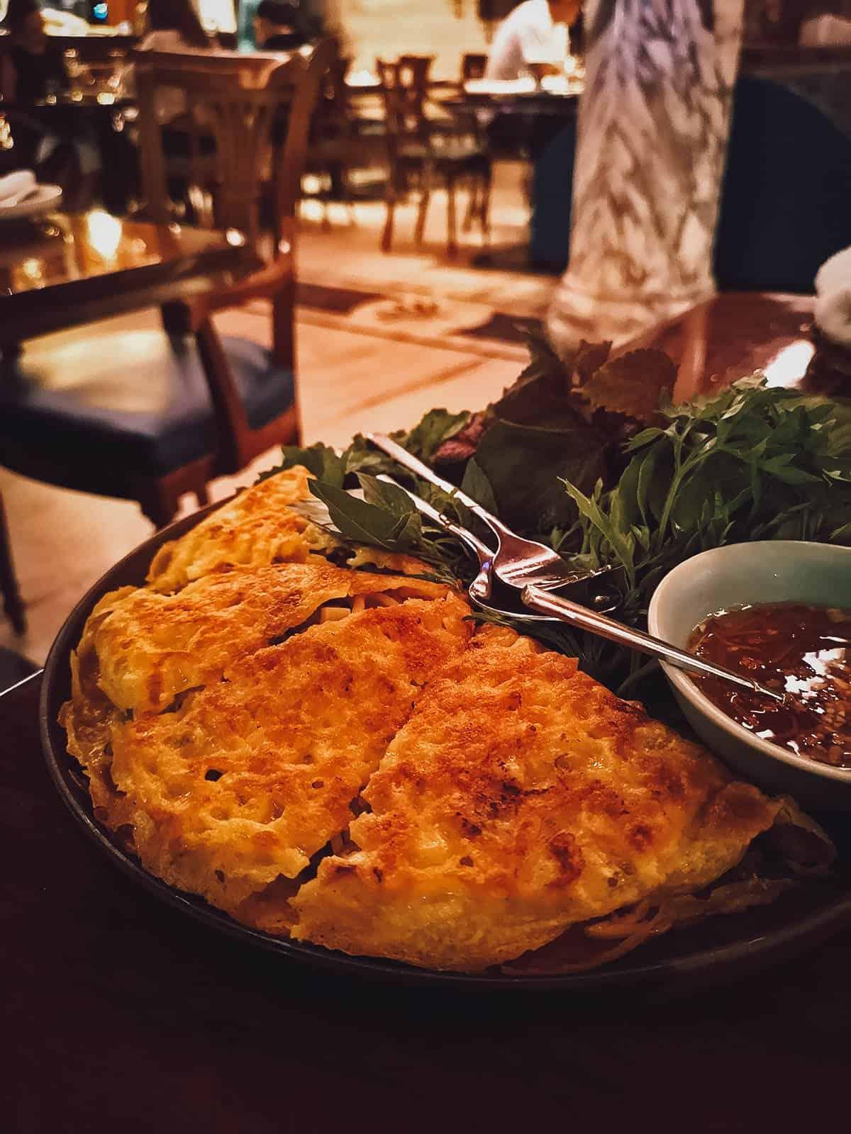 Banh xeo at Vietnam House Restaurant