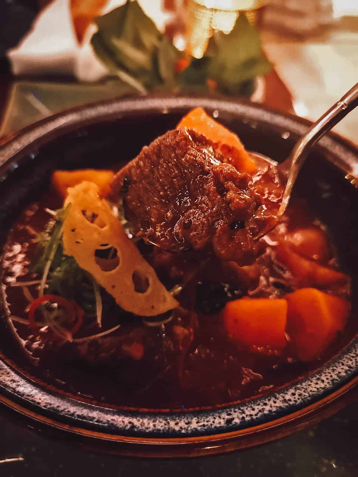Braised wagyu beef cheek at Vietnam House Restaurant
