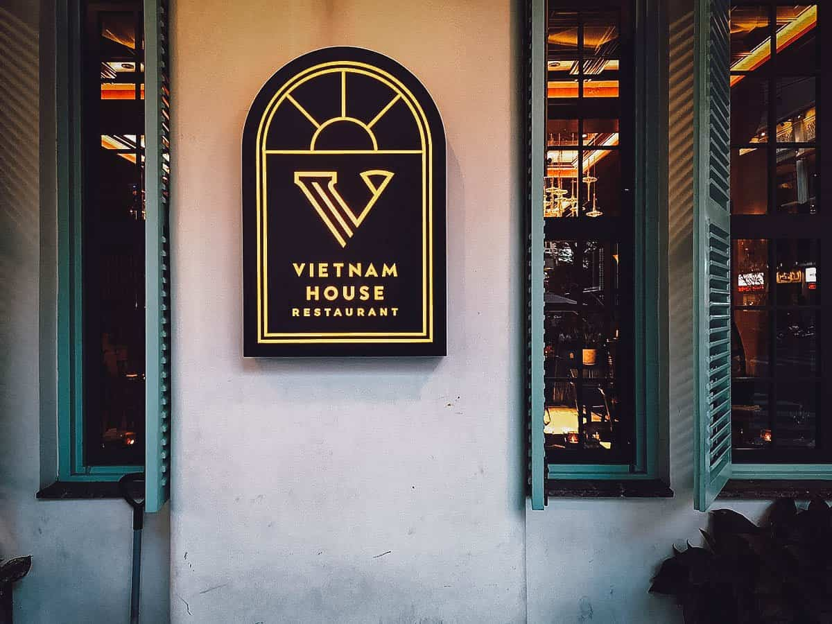 Vietnam House Restaurant exterior