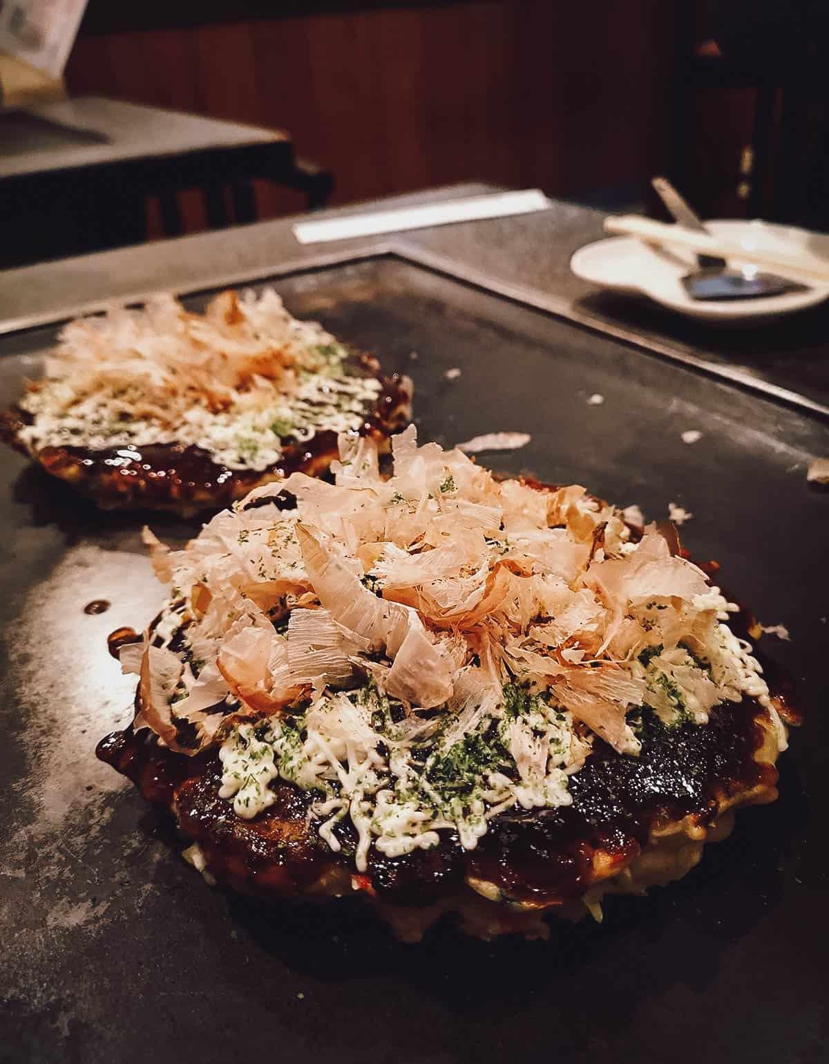 Okonomiyaki at Fue