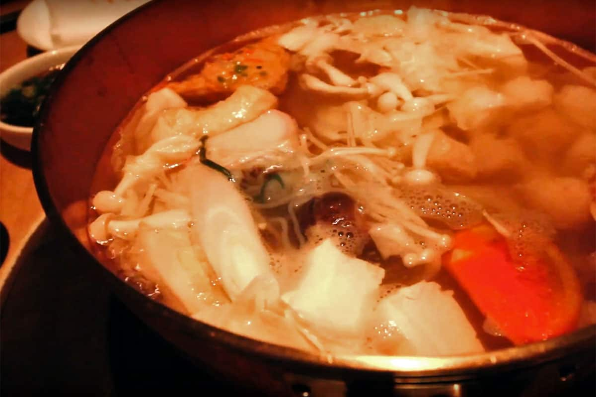 Hot pot at Orange Shabu Shabu in Taipei, Taiwan