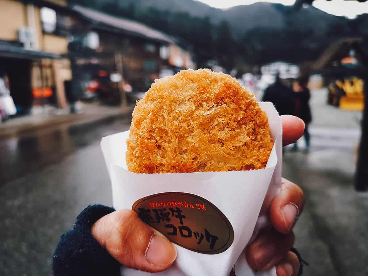 Croquette in Shirakawa-go