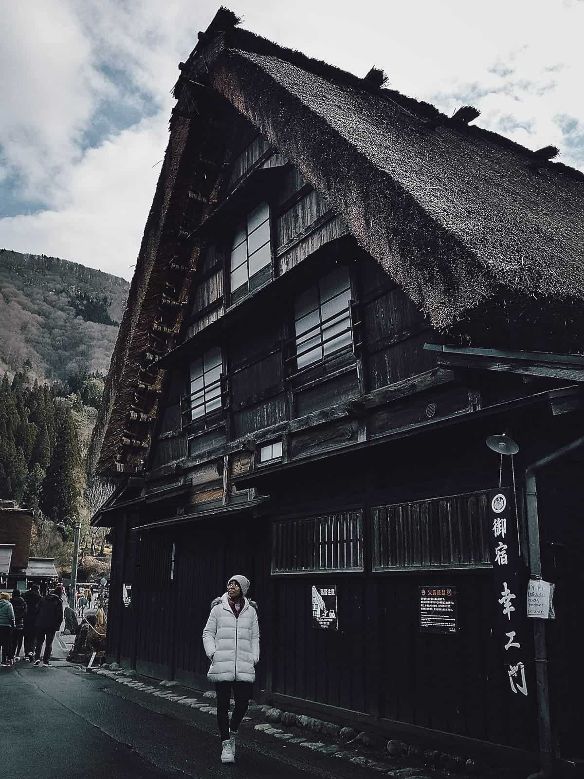 Shirakawa-go houses without snow