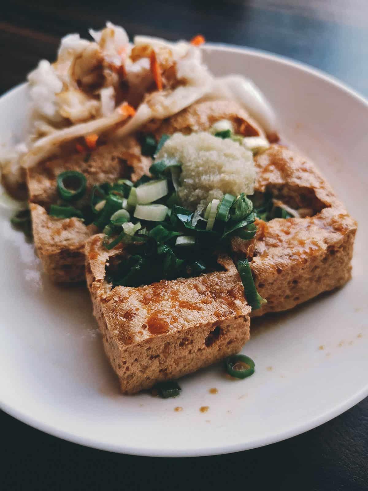 Stinky tofu in Kaohsiung, Taiwan