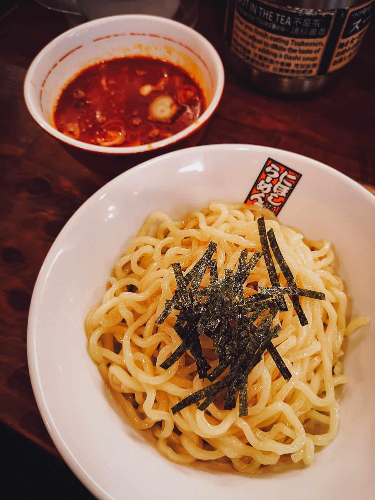 Tsukemen at Niboshi Ramen Tamagoro Kuromon