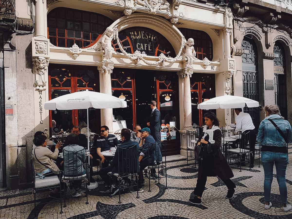 Majestic Cafe in Porto, Portugal