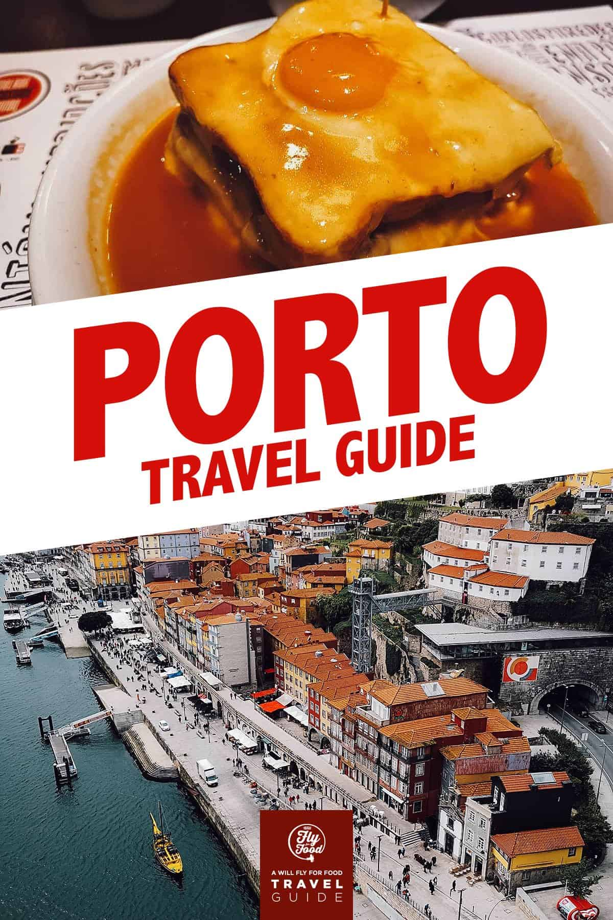 Francesinha and view from Dom Luis I Bridge