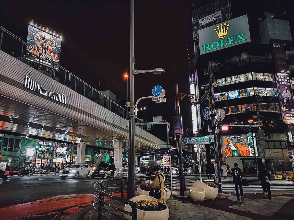 Roppongi in Tokyo