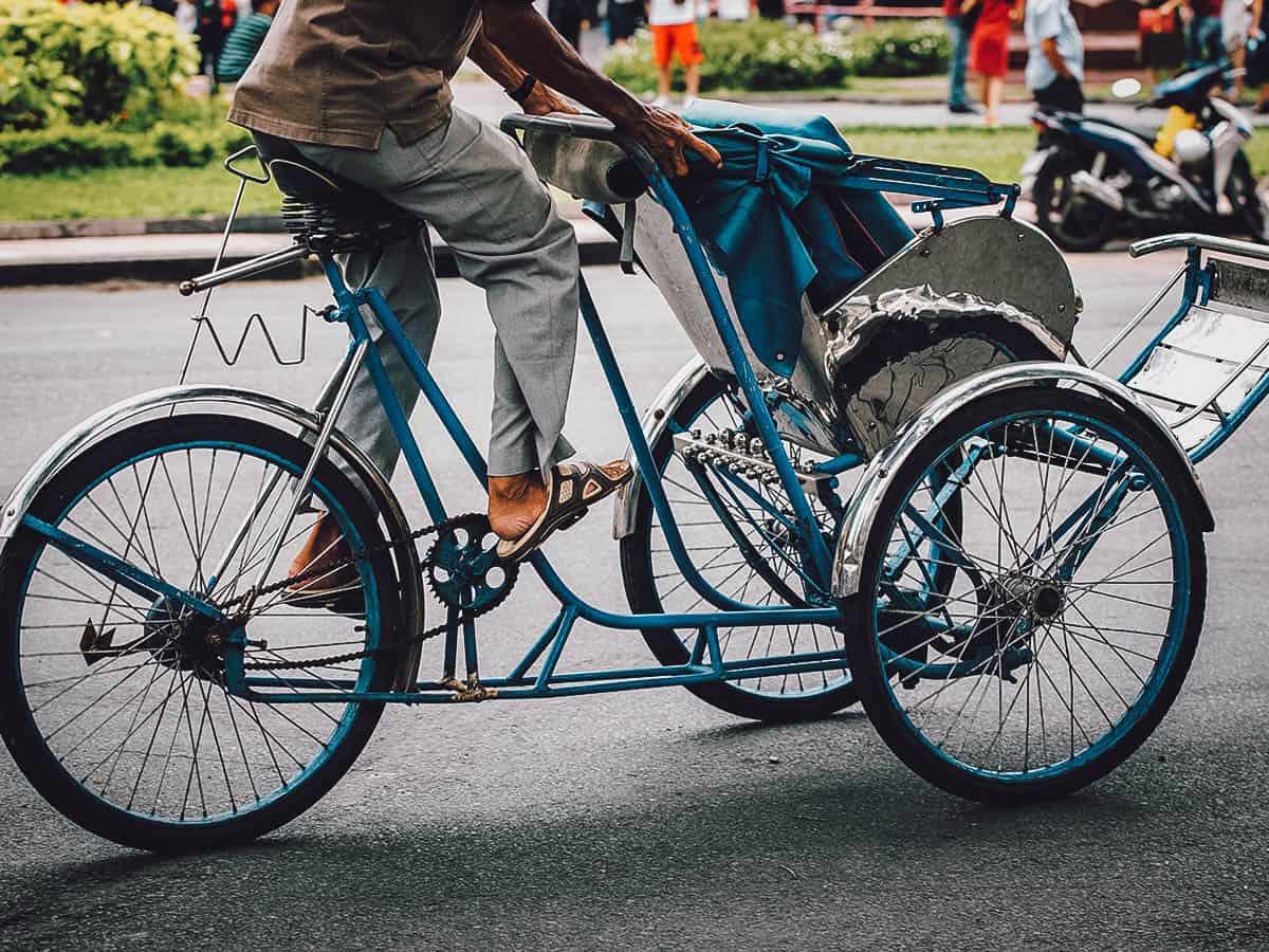 Cyclo driver in Ho Chi Minh City (Saigon), Vietnam