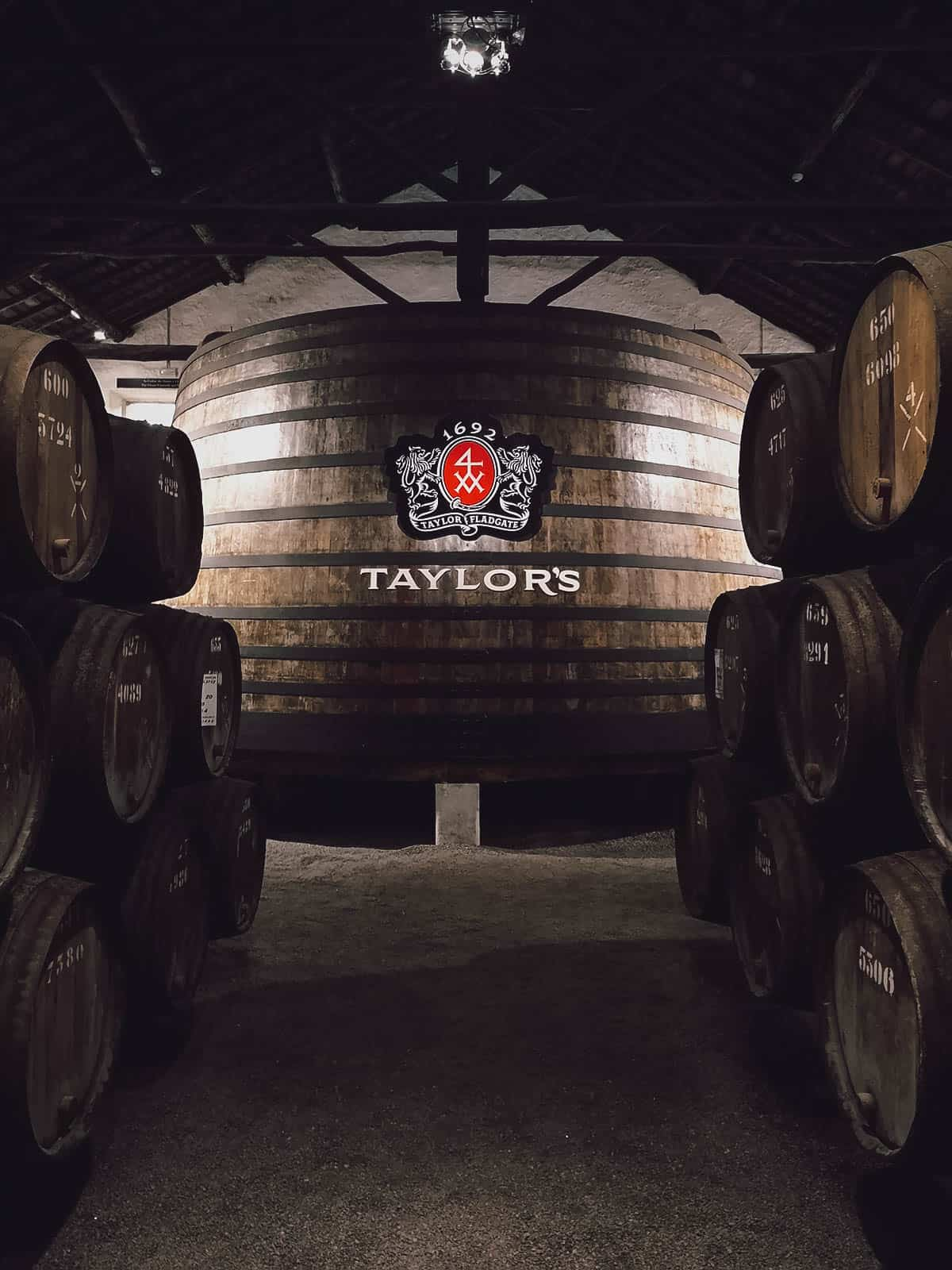 Giant port barrel at Taylor's Port