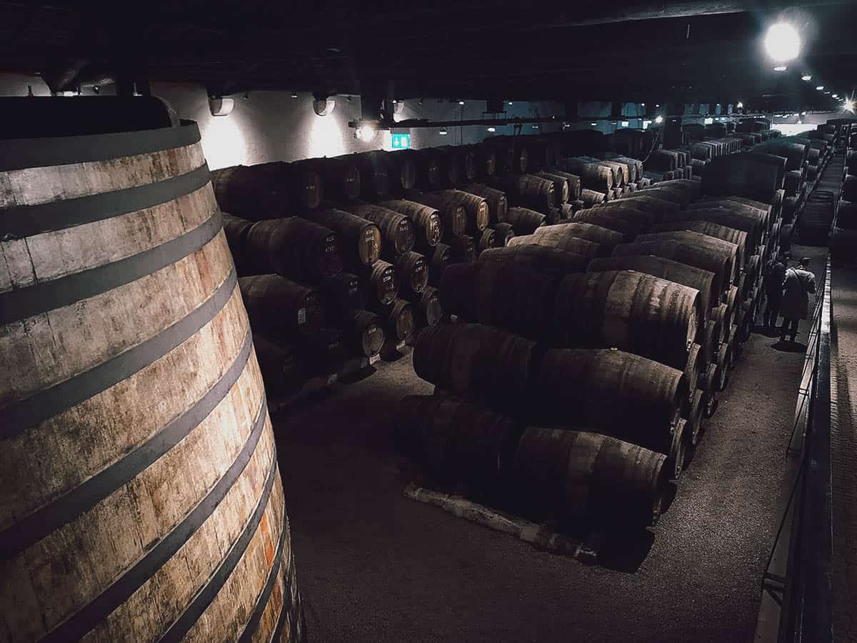 Port barrels at Taylor's Port