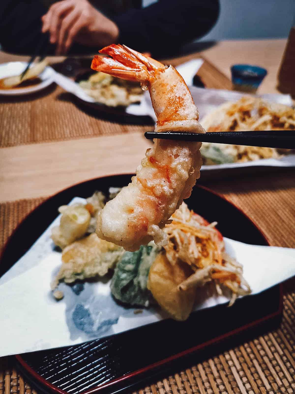 Making tempura