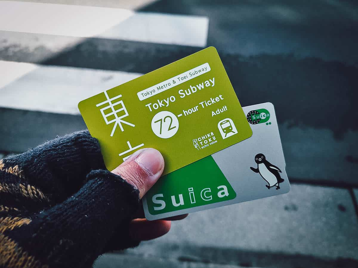 Tokyo Subway Ticket and a Suica IC Card