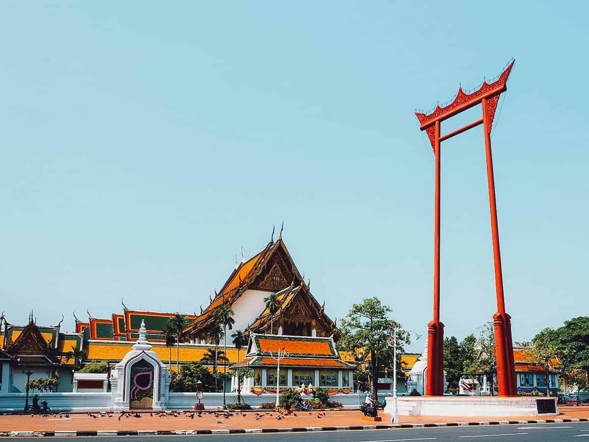 Wat Suthat and the Giant Swing in Bangkok, Thailand
