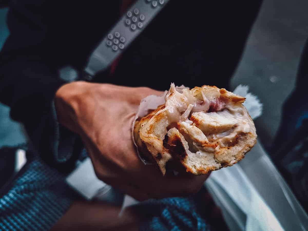 Baguette sandwich at Bors GasztroBar in Budapest