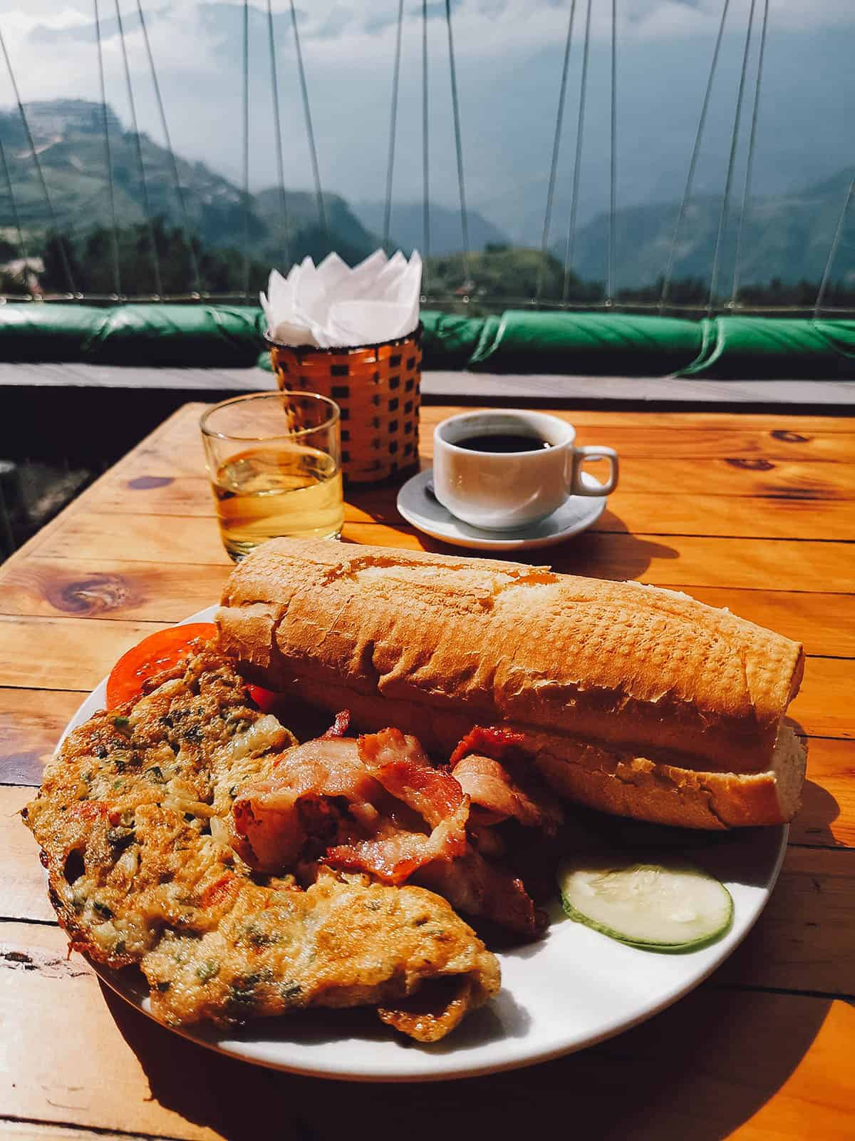 Breakfast in Sapa, Vietnam