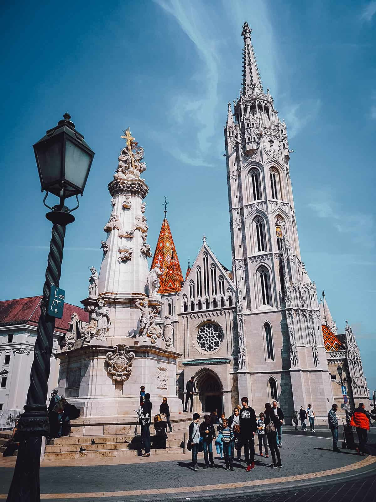 Exterior of Matthias Church in Budapest, Hungary