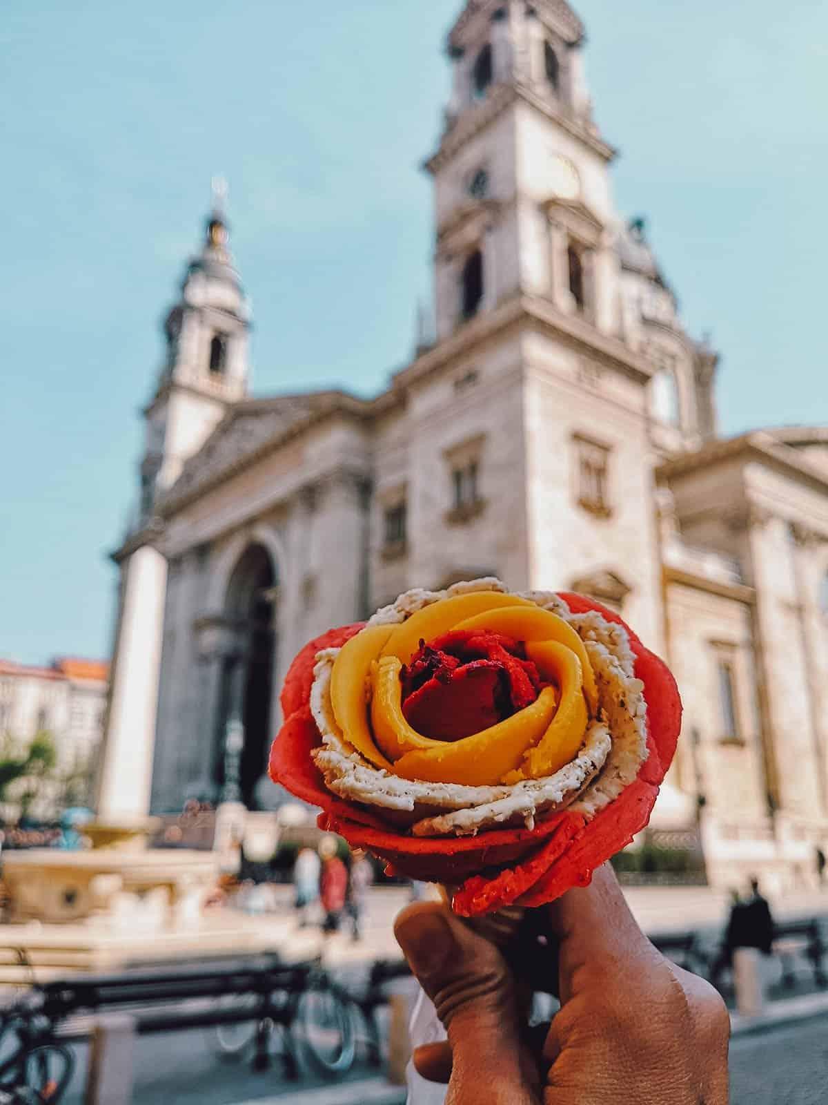Gelarto Rosa in Budapest, Hungary