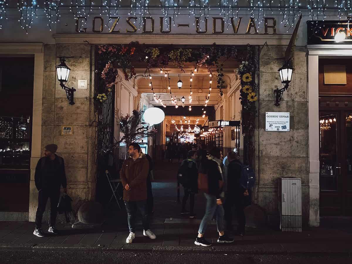 Gozsdu Udvar in Budapest, Hungary