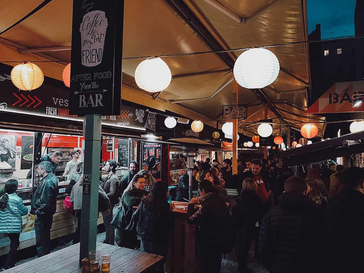 Langos Burger in Budapest, Hungary