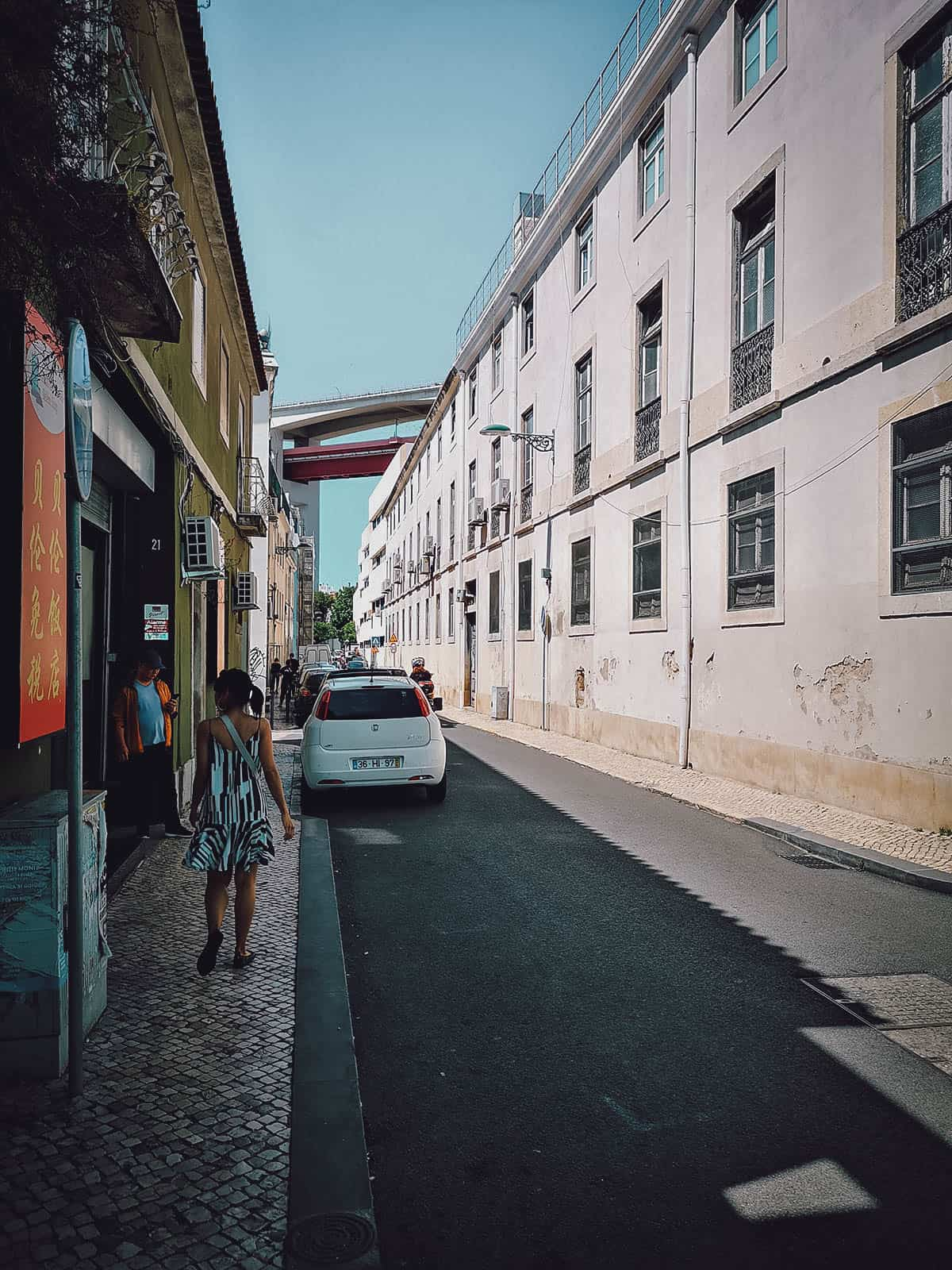 Walking to Lx Factory in Lisbon, Portugal