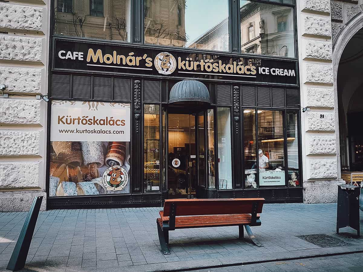 Molnar's Kurtoskalacs in Budapest, Hungary