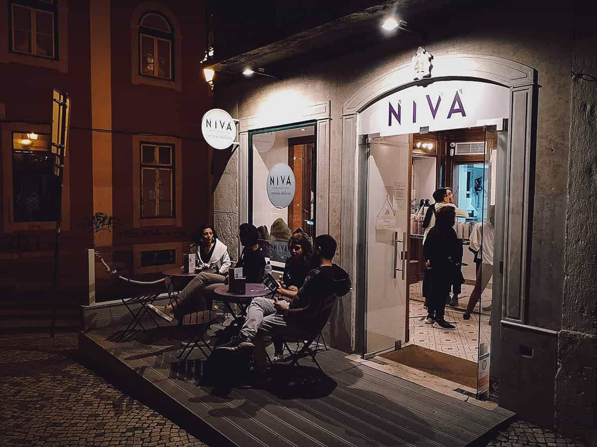 Niva Gelato in Lisbon, Portugal