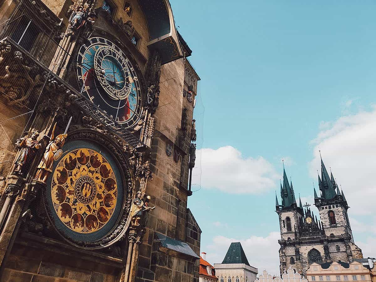 Astronomical clock in Prague, Czechia