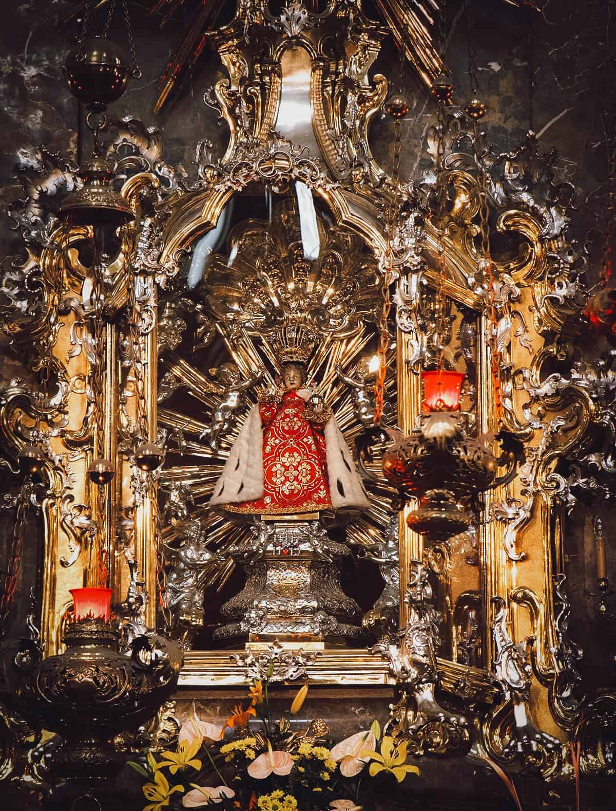 Infant Jesus of Prague statue in Prague, Czechia
