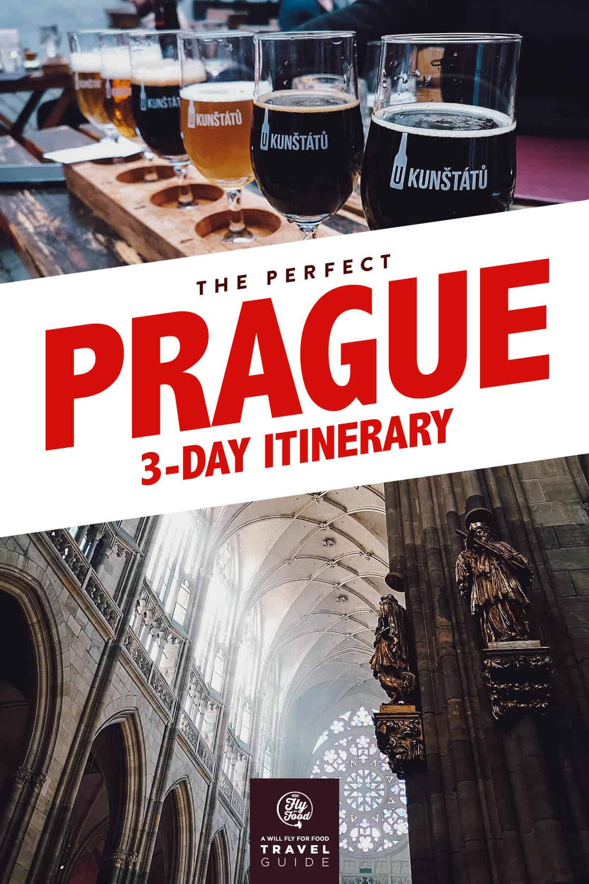 St. Vitus Cathedral and a flight of beer