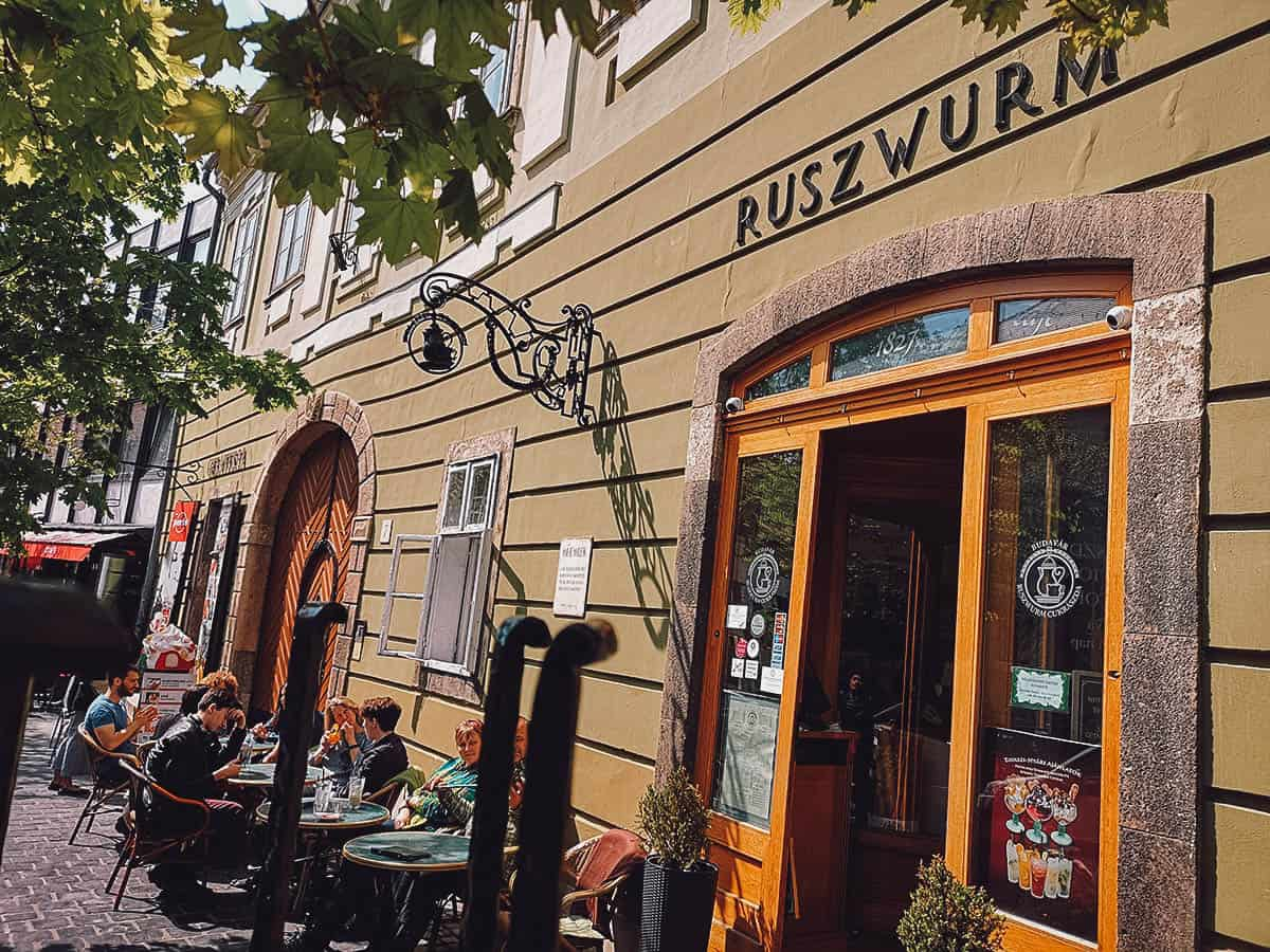 Ruszwurm Confectionery in Budapest, Hungary