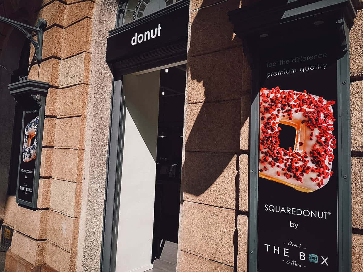 The Box Donut in Budapest, Hungary