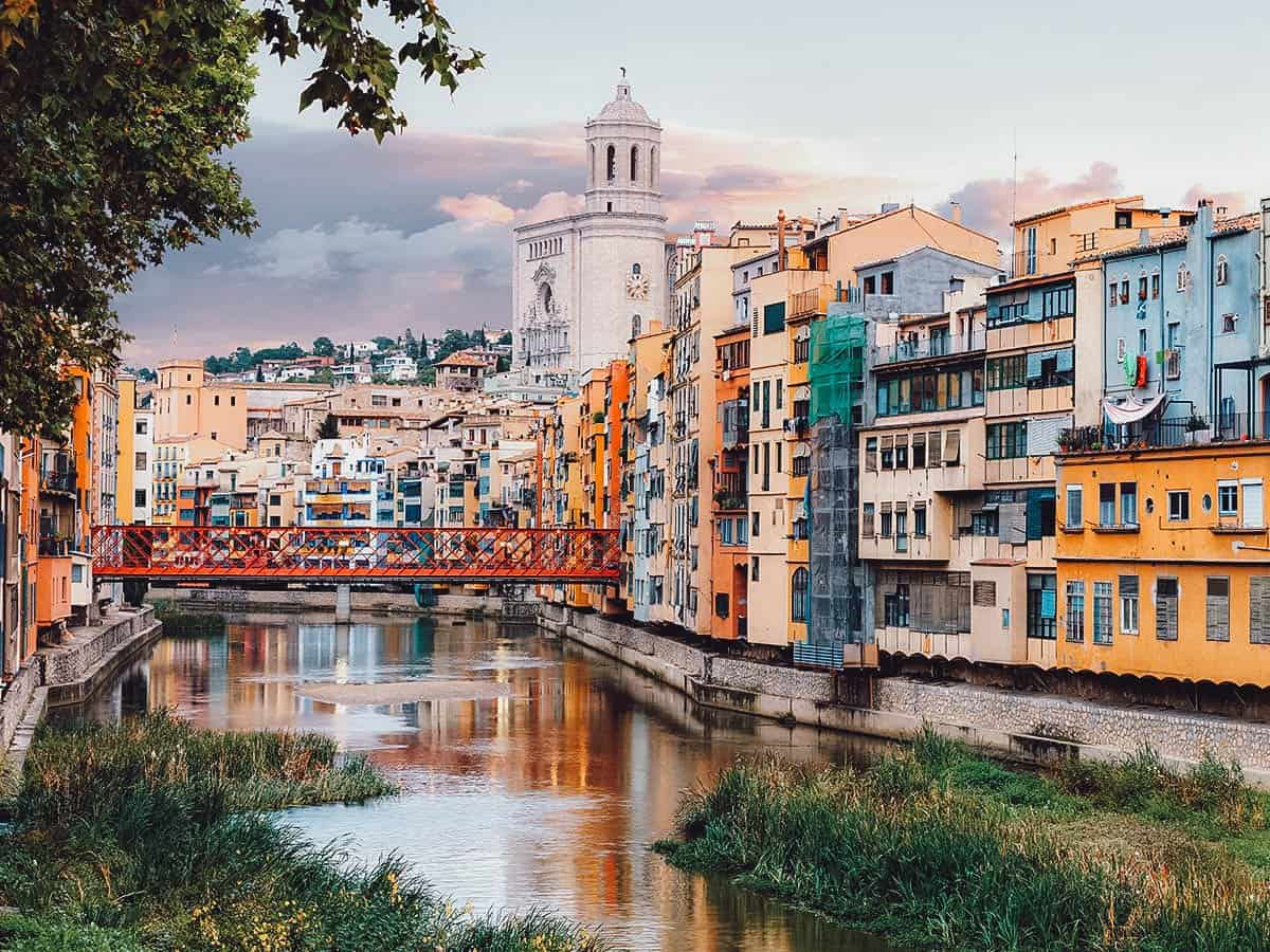 View from Onyar River in Girona