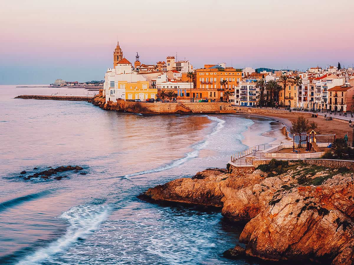 Coastal view in Sitges