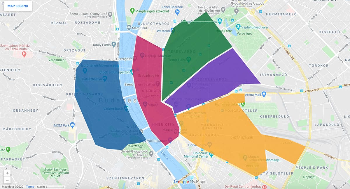 Budapest area map