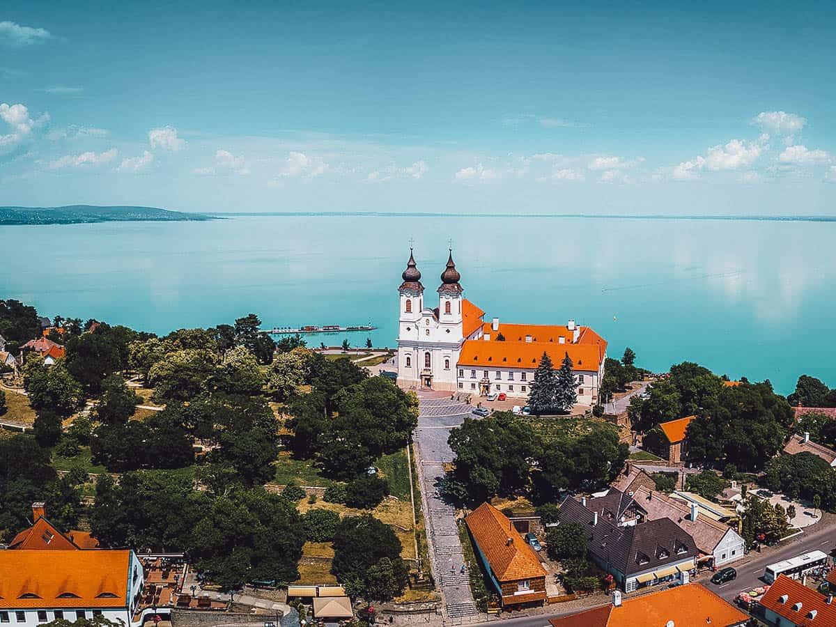 View of Lake Balaton in Hungary