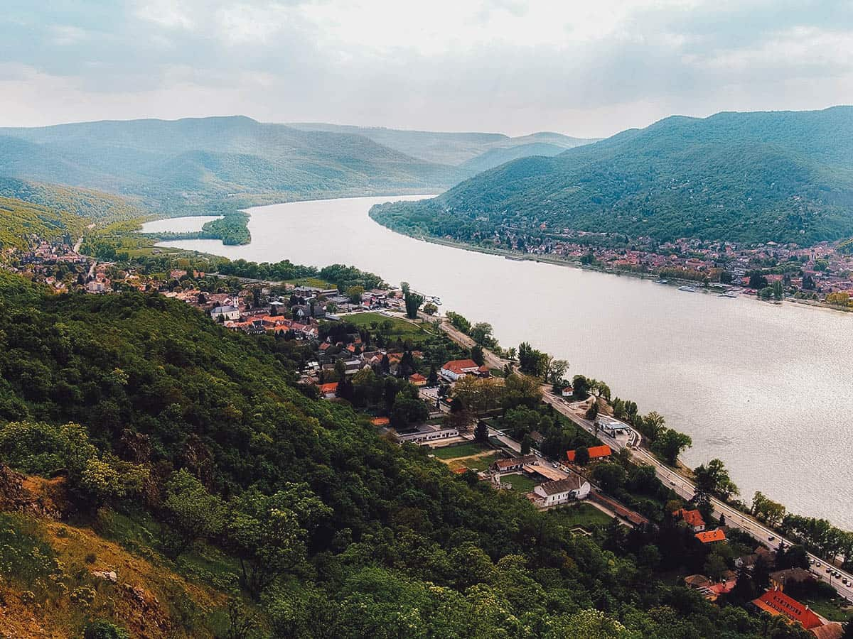 View of Visegrad in Hungary