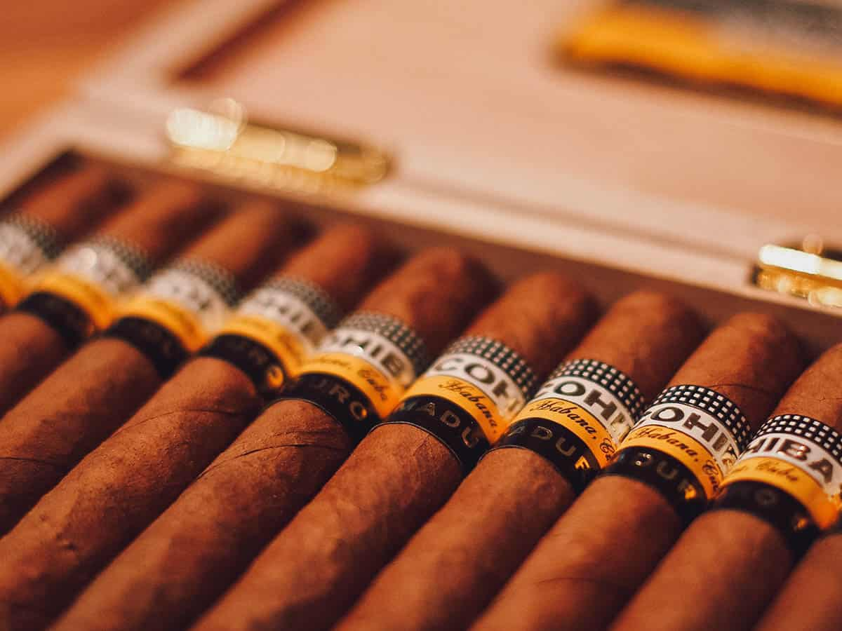 Box of Cohiba Maduro 5 cigars
