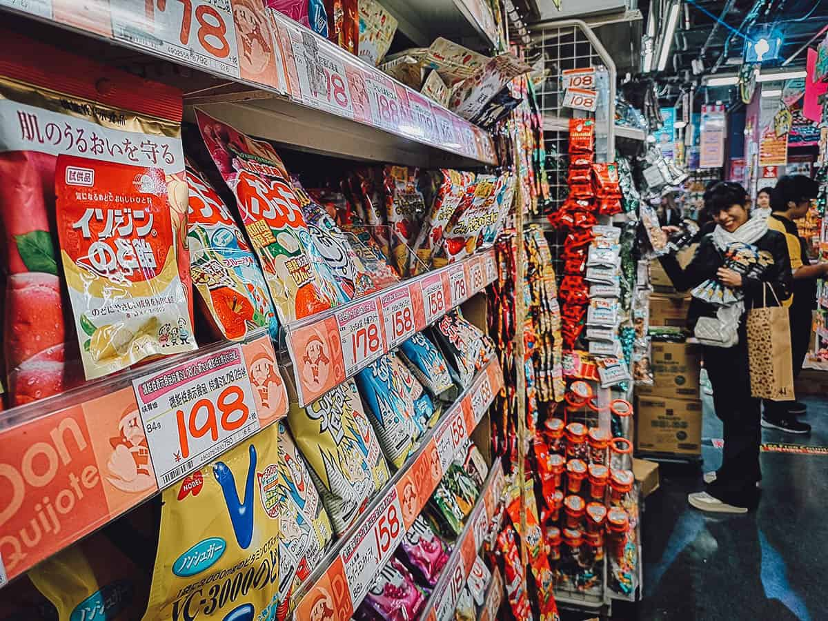 Snacks for sale at Don Quijote