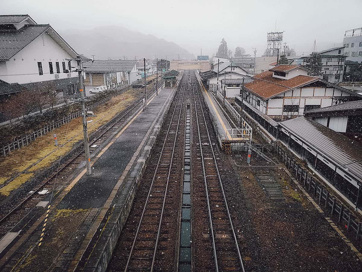 Train tracks at Hida Furukawa Station