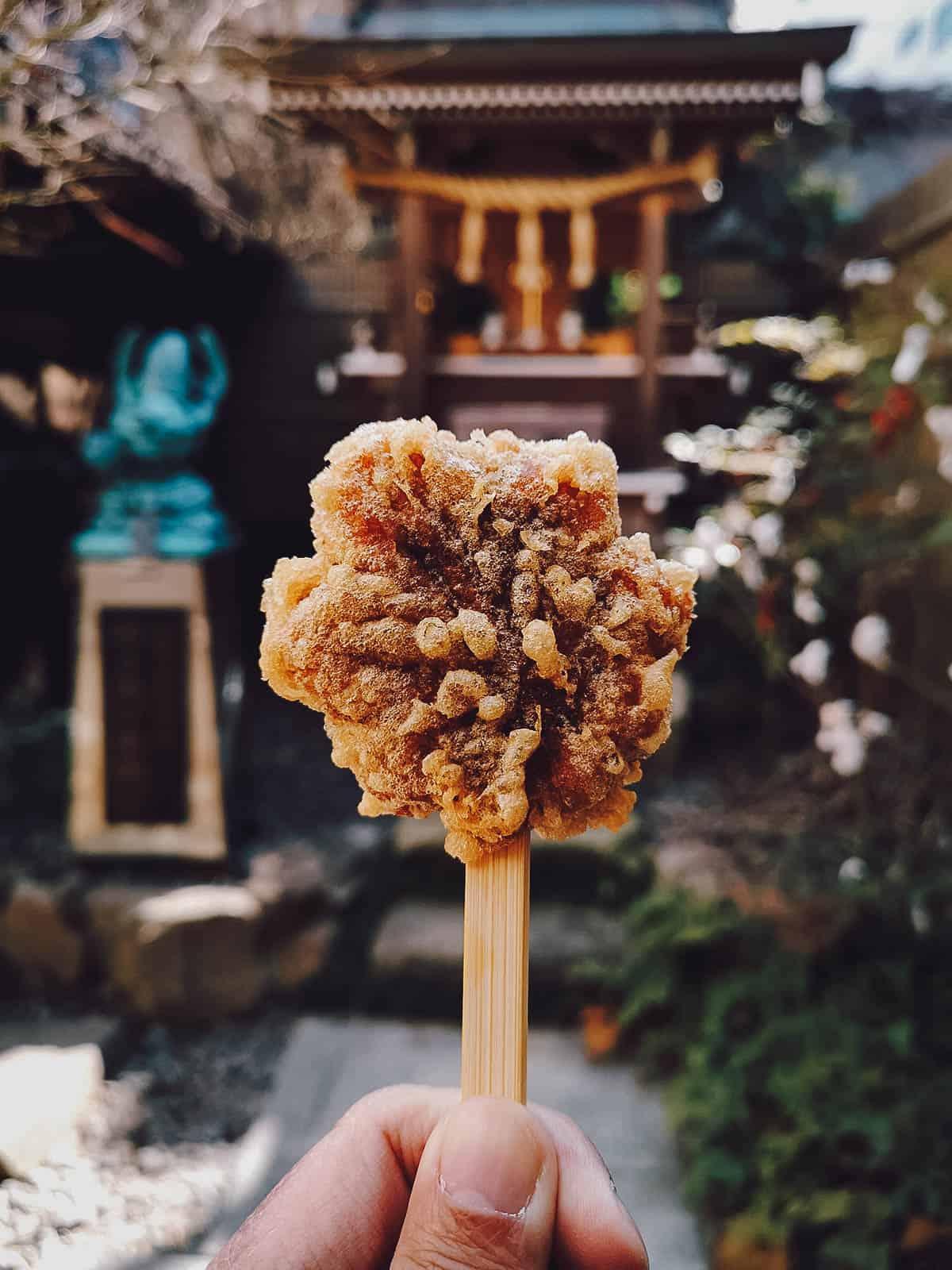 Deep-fried momiji manju