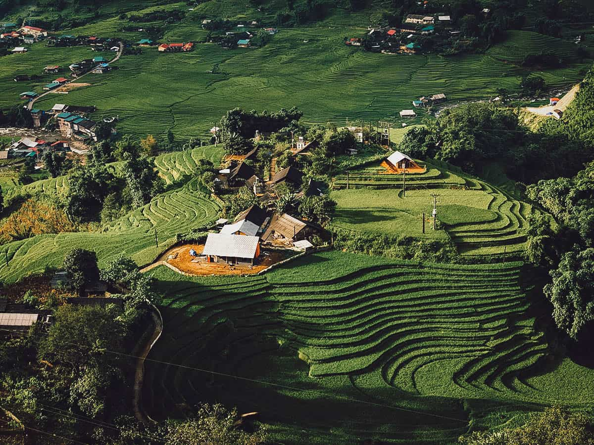 Rice terraces around Lao Chai Village in Sapa, Vietnam