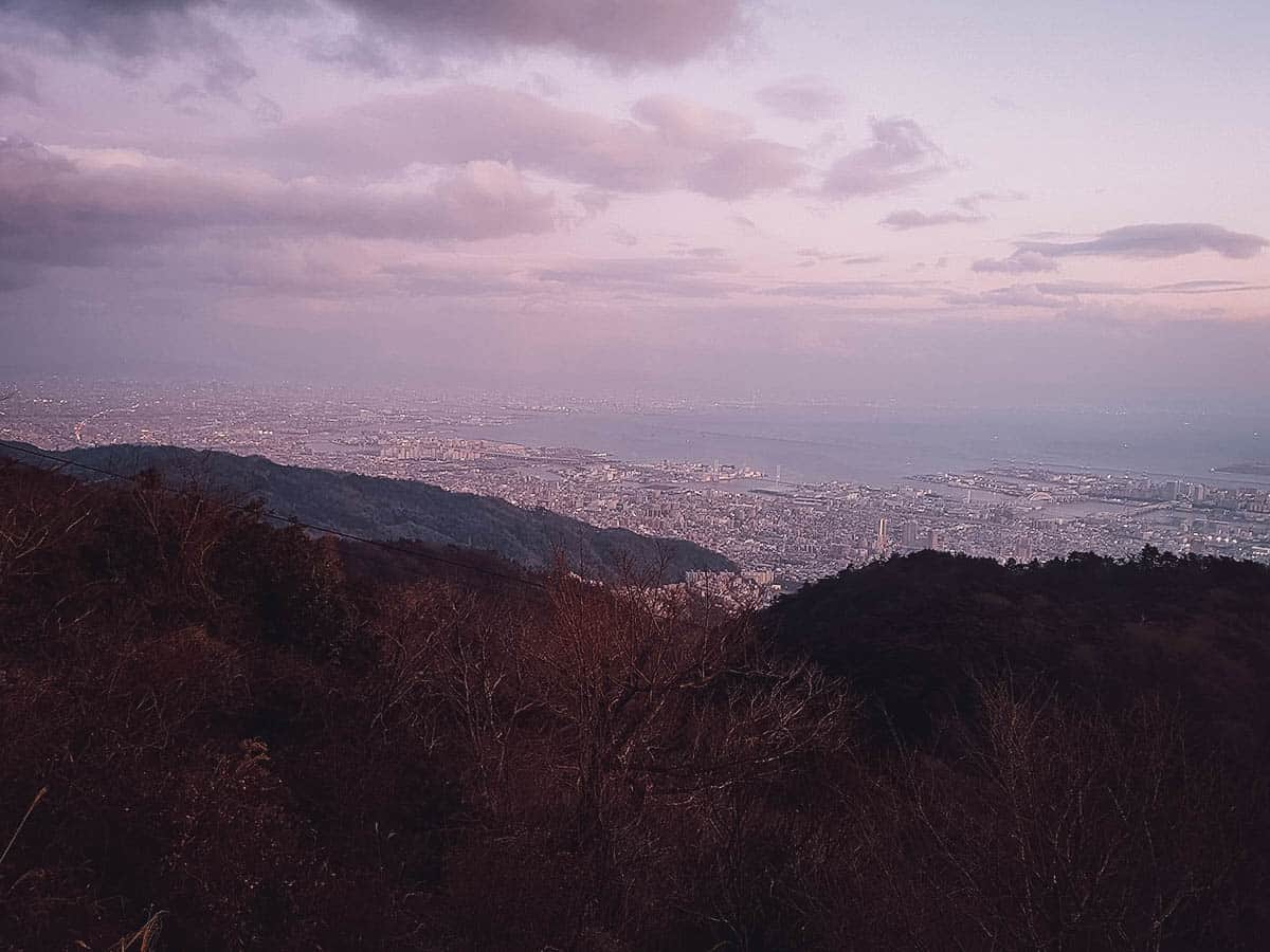 View from Mt. Rokko in the early evening