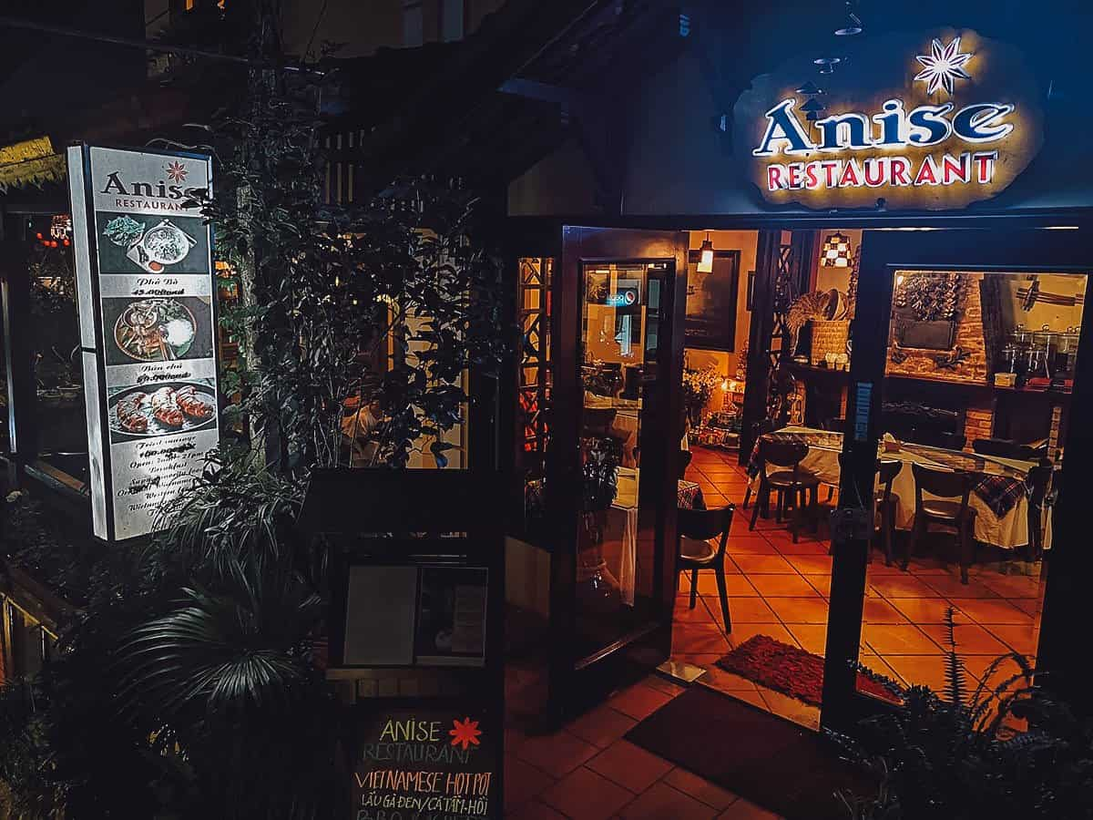 Anise Restaurant exterior